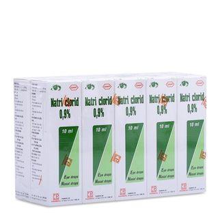 Thuốc nhỏ mắt, mũi Natri Clorid 0.9%
