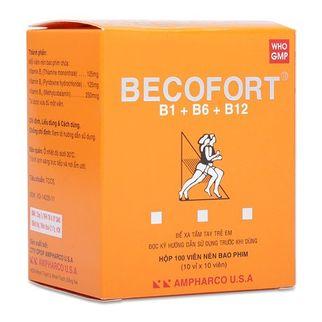 Thuốc phòng và điều trị sự thiếu hụt Vitamin nhóm B Becofort