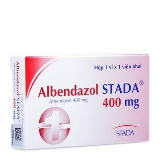 Thuốc tẩy giun/ sán Albendazol Stada (400mg)