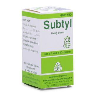 Thuốc tiêu chảy, viêm cấp, mãn tính ở người lớn & TE Subtyl