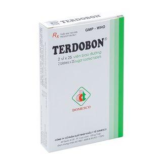 Thuốc trị ho và dịch tiết phế quản Terdobon(2 vỉ x 35 viên)