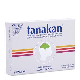 Thuốc trị suy giảm nhận thức và thần kinh cảm giác Tanakan