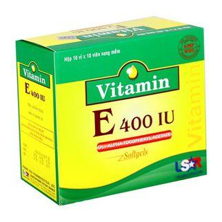 Vitamin E 400 IU ( 10 vỉ x 10 viên/ hộp)