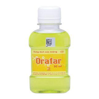 Dung dịch súc miệng Orafar dung tích 90ml