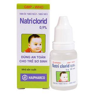 Nước nhỏ mắt mũi Natriclorid 0,9% 10ml