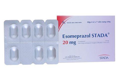Thuốc trị trào ngược dạ dày, loét dạ dày Esomeprazol 20mg
