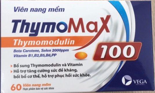 Viên uống Thymo max 100- Hỗ trợ tăng cường sức đề kháng vỉ 10 viên
