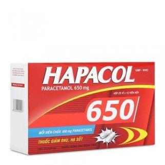 Thuốc giảm đau và hạ sốt Hapacol 650 1 vỉ 5 viên