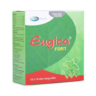 Thuốc trị các chứng ho, đau họng, sổ mũi,cảm cúm Eugica Fort