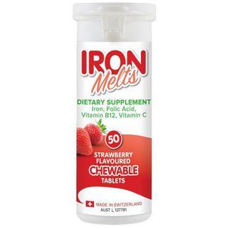 Viên Iron Melts Bổ Sung Sắt, Acid Folic, Vitamin B12, Vitamin C