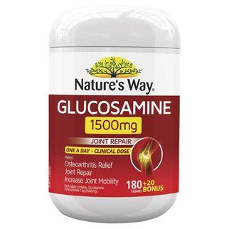 Viên uống bổ sung Glucosamine 1500mg Nature's Way của Úc