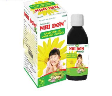 Siro cảm cúm Nhi đơn Tâm Việt dạng chai 100ml