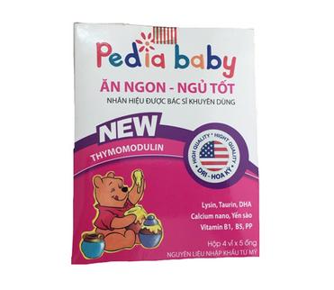 Siro Pedia Baby ăn ngon ngủ tốt hộp 4 vỉ x 5 ống