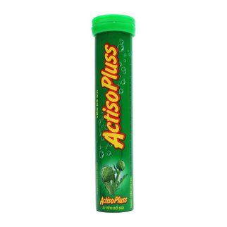 Viên sủi Actiso râu ngô rau má giúp mát gan, lợi tiểu (10 lọ x 20 viên)