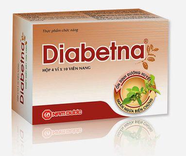 Viên uống Diabetna hỗ trợ đường huyết hộp 4 vỉ x10 viên nang