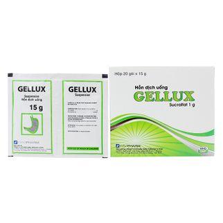 Thuốc trị viêm loét dạ dày Suspension Gellux Sucralffate