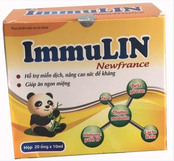 ImmuLin Newfrance hỗ trợ tăng cường sức đề kháng hộp 20 ống