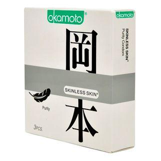 Bao cao su Okamoto Skinless Skin Purity không mùi