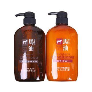 Bộ dầu gội xả mỡ ngựa Nhật Hokkaido Horse Oil