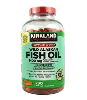 Dầu cá Kirkland Wild Alaskan Fish Oil 1400mg hỗ trợ tim mạch