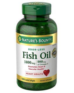 Dầu cá Nature's Bounty Fish Oil 1400mg 130 viên của Mỹ