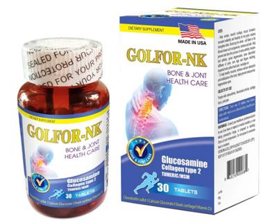 Golfor-NK - Viên bổ sung dưỡng chất cho khớp của Mỹ