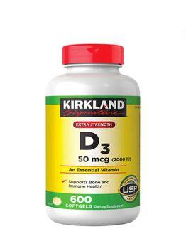 Vitamin D3 2000IU Kirland Signature của Mỹ 600 viên