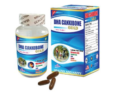 Viên uống bổ sung Canxi DHA Canxibone Gold của Mỹ