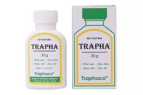 Bột hỗ trợ khử mùi Trapha 30g