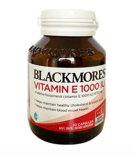 Blackmores Natural Vitamin E 1000IU 100 viên của Úc