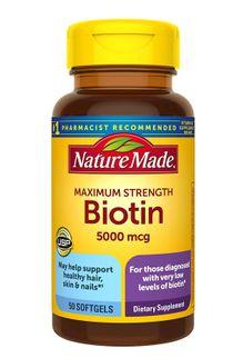 Viên uống mọc tóc Nature Made Biotin 5000mcg
