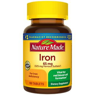 Viên hỗ trợ bổ sung sắt Nature Made Iron 65mg của Mỹ