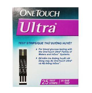 Que thử đường huyết OneTouch Ultra 2 (hộp 25 que)