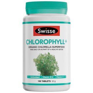 Viên uống diệp lục chiết xuất tảo biển Swisse Chlorophyll