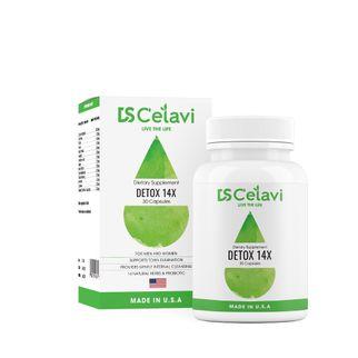 Viên uống hỗ trợ tiêu hóa Ds C'elavi Detox 14x của Mỹ