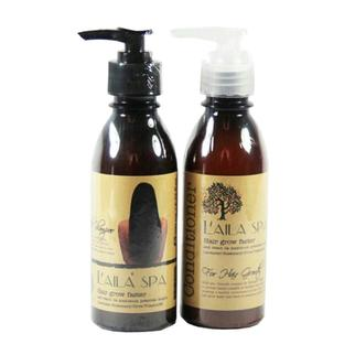 Bộ dầu gội, xả thảo mộc Laila spa hỗ trợ mọc tóc