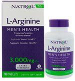 Viên uống L-Arginine 3000 mg cho nam của Mỹ 90 viên