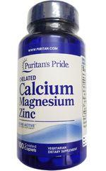 Puritan's Pride Calcium Magnesium Zinc 100 viên
