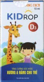Dung dịch Kidrop- Tăng cường sức khỏe xương và răng cho trẻ