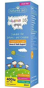 Vitamin D3 Natures Aid 400IU Cho Bé Từ Sơ Sinh Đến 5 Tuổi