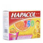 Thuốc giảm đau hạ sốt cho trẻ Hapacol 250 hương cam