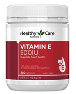 Vitamin E Healthy Care 500IU hộp 200 viên của Úc