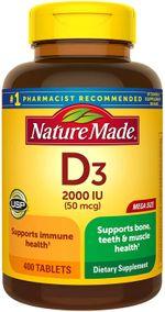 Vitamin D3 Nature Made 50 Mcg 2000 IU Dạng Viên Của Mỹ